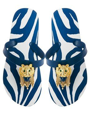 Miss Trish Lion Flat Flip Flop