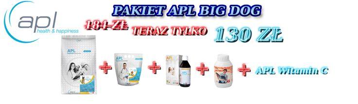 Pakiet APL Big Dog - Karma Sucha APL Adult Big Dog 10 kg + 2 kg + suplementy, teraz za jedyne 130 zł ! Zapraszamy na http://apl-zoo.eu/pl/p/Pakiet-APL-Big-Dog-1/178