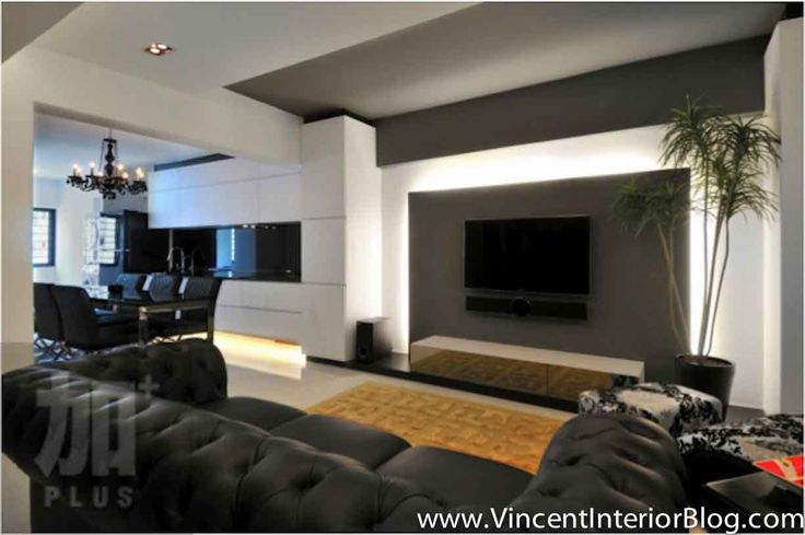 Plus interior design living room tv feature wall designs - Feature walls in living rooms ideas ...