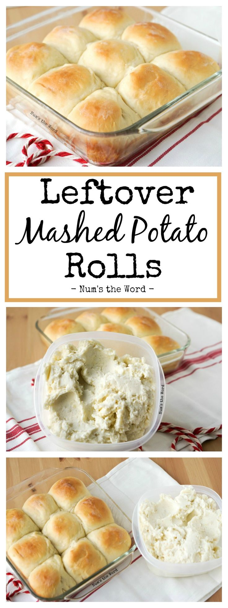*VIDEO* Leftover Mashed Potato Rolls are a sweet and delicious way to use up any flavor of leftover mashed potatoes. Our #1 favorite way to use up leftovers! #sidedish #roll #yeastroll #yeastbread #potatorolls #potatobread #potato #leftovermashedpotatos #mashedpotatoes #rolls #thanksgiving #christmas #easter #recipe #numstheword