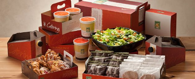 View the latest Panera Bread Catering prices for the entire Panera Catering menu including: Meals to Share, Sandwiches, Boxed Lunches, Soups, Sides, and much more.