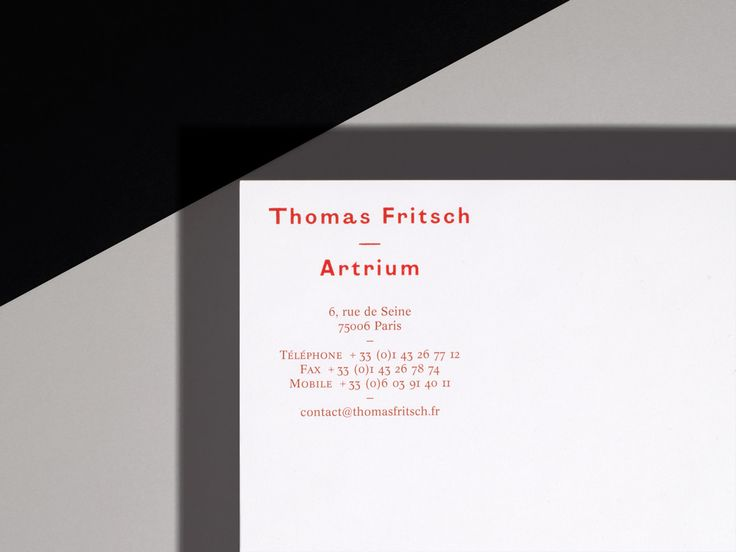 Identity Thomas Fritsch, Maquette & Mise en page