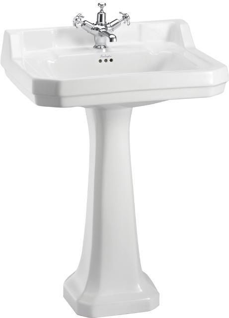 Tvättställ (Burlington Edwardian 56 cm, piedestal)