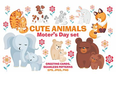 "Check out new work on my @Behance portfolio: ""Cute animals. Mother's Day set."" http://be.net/gallery/51320123/Cute-animals-Mothers-Day-set"