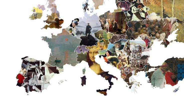 E' stata pubblicata dalla pagina Reddit MapPorn una splendida carta politica dell'Europa, raffigurata non come siamo abituati a vederla ma attraverso le opere d'arte più famose di ogni singolo stato. …