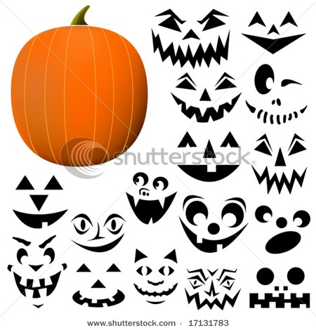 jack o lantern faces clip art - photo #23