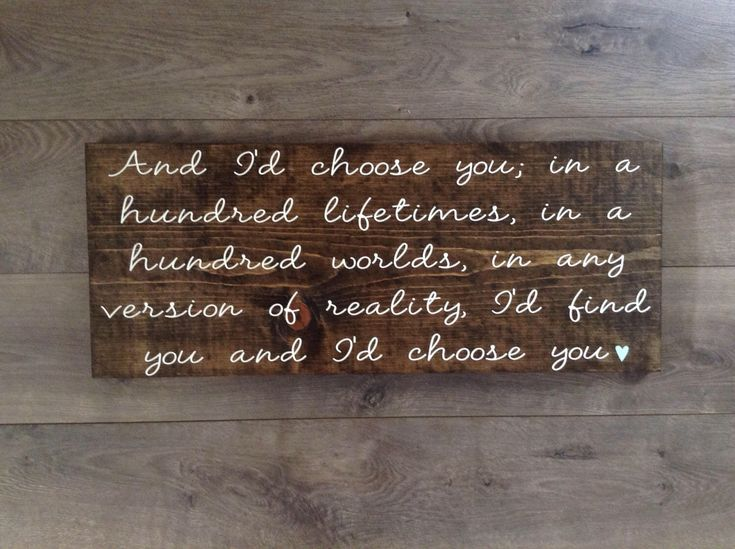 wooden signs with quotes|I'd choose you wood sign|rustic wedding signs|wooden wall plaque with sayings|wood wall signs|anniversary gift idea by TheRuffledRibbonCo on Etsy https://www.etsy.com/listing/496052754/wooden-signs-with-quotesid-choose-you