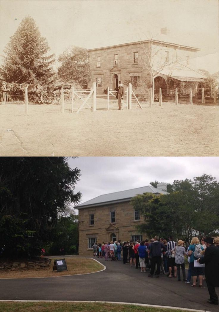 Werrington House, Werrington County 1870's and during an open day today 18/10/2015. [@statelibrarynsw>Phil Harvey. By Phil Harvey]