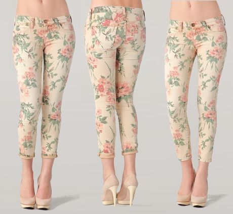 floral stiletto jeansDreams Style, Clothing Style, Fashion Styles, Stilettos Jeans, Floral Stilettos, Current Elliot Floral, Floral Pants, Floral Jeans, Style Floral