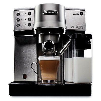 ﹩299.95. DeLonghi Dedica Expresso and Cappuccino Machine EC860 15 Bar Pump NEW FREE SHIP    Type - Cappuccino Machine, Number of Cups - 1, Pressure - 15 bar, Features - Auto Shut-Off, Color - Black, UPC - 044387086004