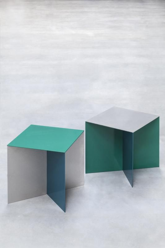 muller van severen alu square stool / table BUITEN