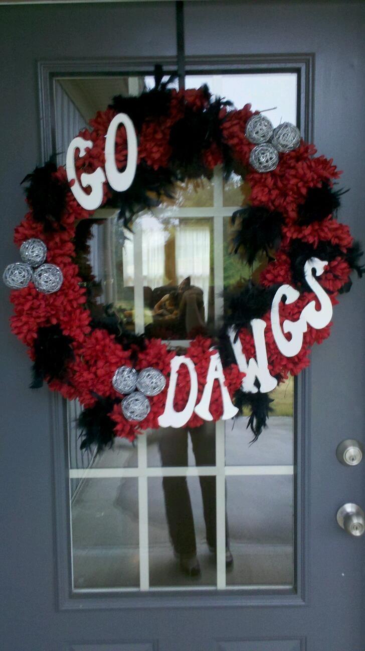 Go Dawgs! UGA Wreath
