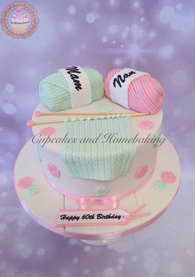 Knitting cake