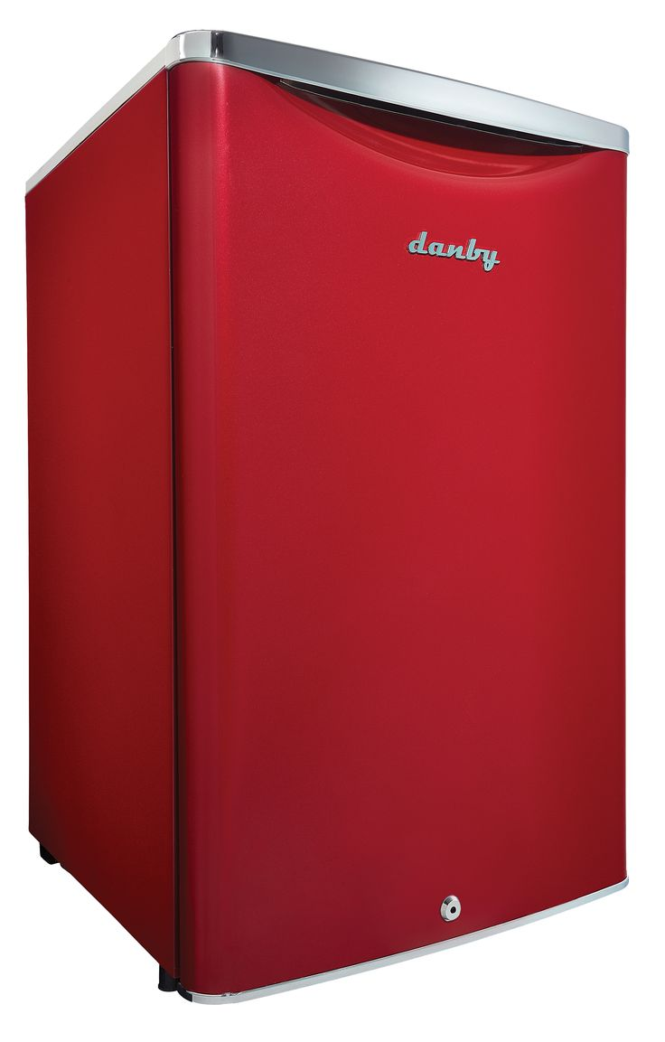 MINI FRIDGE: Red Compact Refrigerator 4.4 CU Capacity Energy Star with Lock & Key - So much in a little Package!