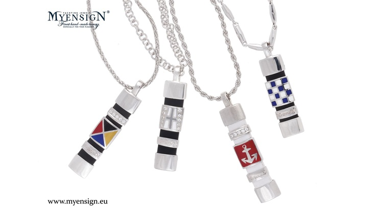 MyEnsign Medallions - White Gold with Brilliants  www.myensign.eu