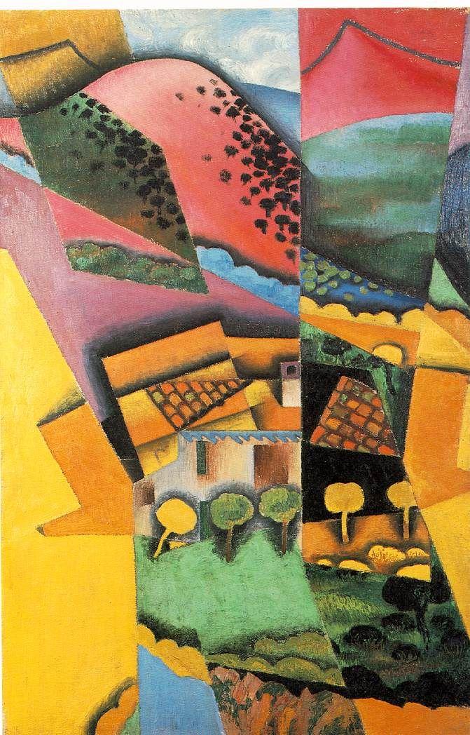 Juan Gris (1887-1927) ~ Landscape at Ceret, 1913 ~ Moderna Museet, Stockholm