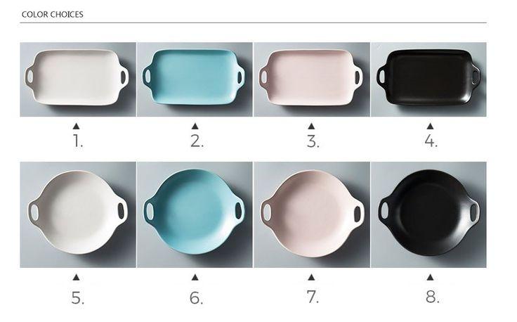 Ceramic multiple color M serving plate (1 piece)