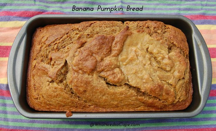 Banana Pumpkin Bread - a healthy but yummy quick bread! #quickbread #pumpkin #fallflavor #snack
