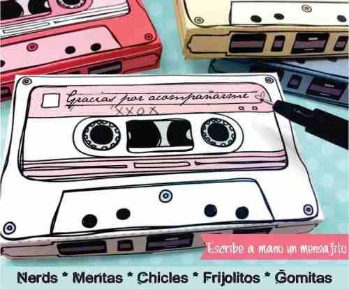 (1) Cajitas Retro 80s En Forma De Cassette 5 Colores - $ 12.00 en MercadoLibre