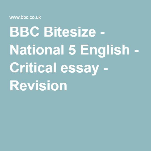 Higher english critical essay help exemplar questions