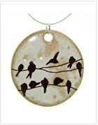 Chip Resistant Porcelain Clay Pendants ~ I have one I purchased years ago from Dotti Potts Designs & still enjoy it immensely!