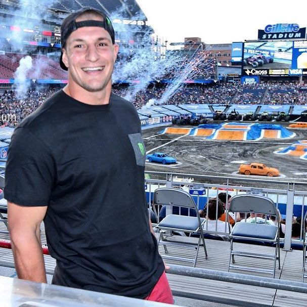 Gronk is here to premier the new @gronk Monster Jam truck!