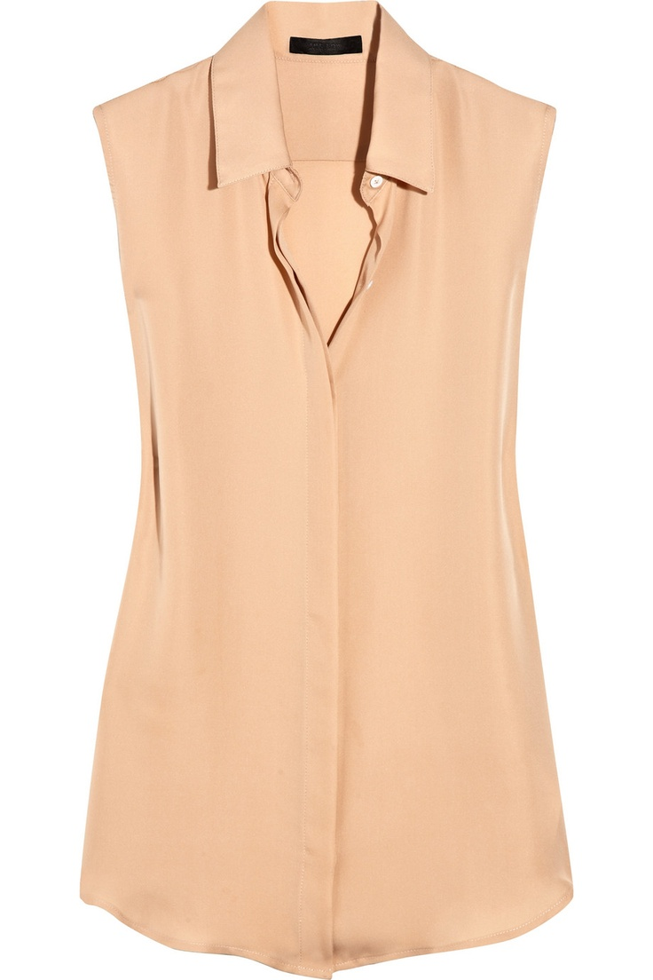 The Row Simmons silk-georgette blouse