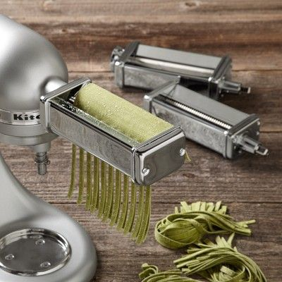 KitchenAid Stand Mixer Pasta Roller Attachments - roller, spaghetti cutter, fettuccine cutter.