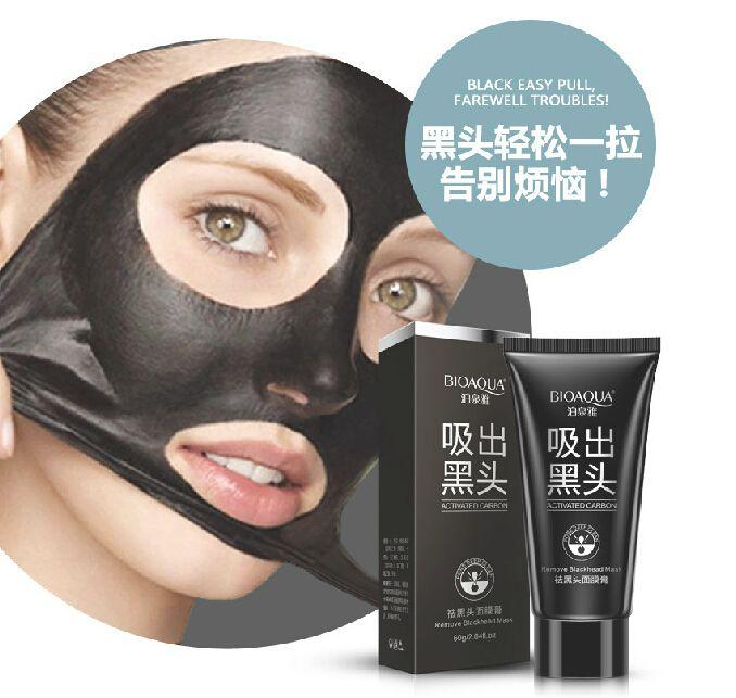 BIOAQUA Mee-eter Zwart Masker Acne Zwart Hoofd Gezichtsmasker Afpellen Stijl Olie Controle Porie Strip Masker Huidverzorging 60g
