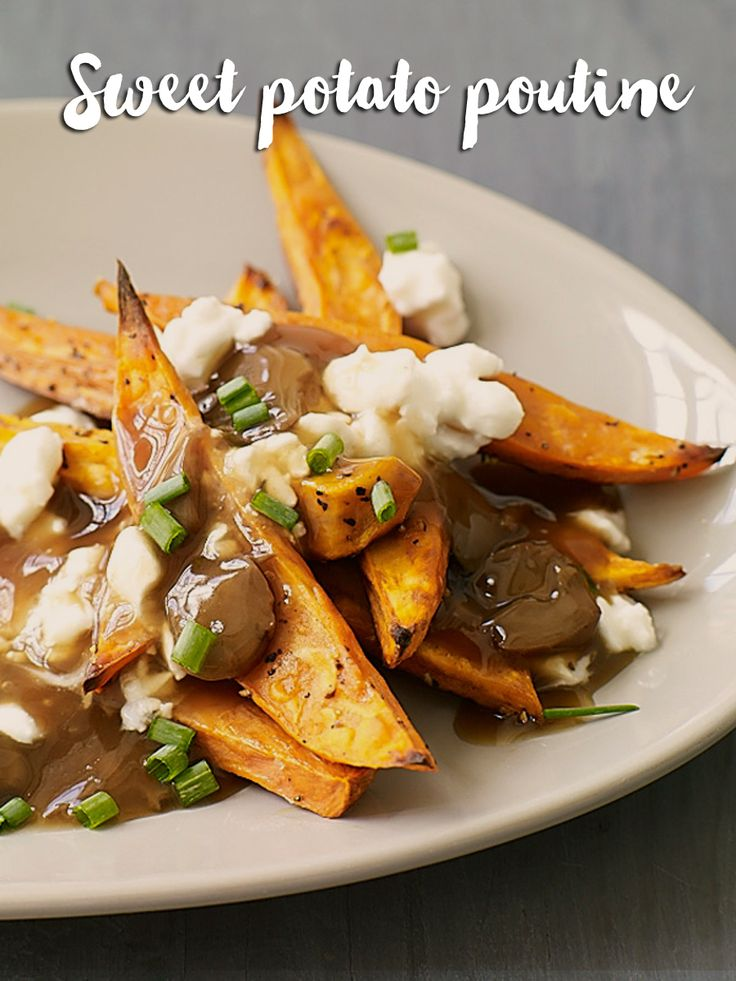 Make your sidedish a little sweeter with this sweet potato poutine recipe. Perfect on its own or as a side, this quick and easy meal idea is truly Canadian at heart.