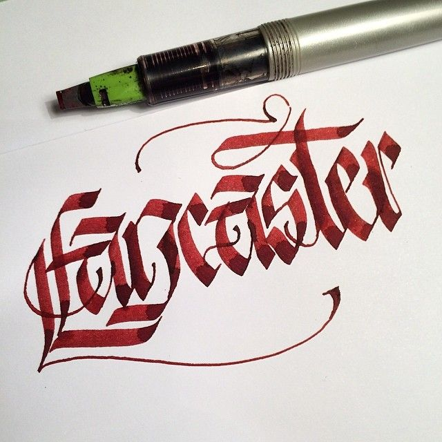 Lancaster. Got to see the last 2 flying Lancasters bombers at #airbourne this weekend. Very special. #makedaily #calligraphy #calligraffiti #calligritype #typographyinspired #blackletter #inking #ink #lettering #handstyles #pilotparallelpen #handstyles #thedailytype #caligrafia #graffiti #showusyourtype #graphicdesign #goodtype #typedaily #typespire #handmadefont