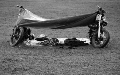 Camping done RIGHT! The right way is the motorcycle way.