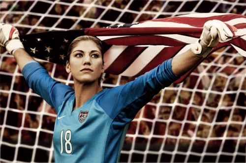 Hope Solo american flag