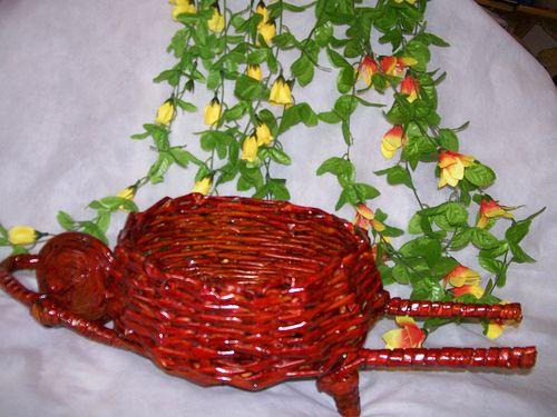 Vamos ver hoje carrinhos de mão feito com canudos de jornal. Eles são um mimo para a decoração. Podem servir também como lembrancinha para...