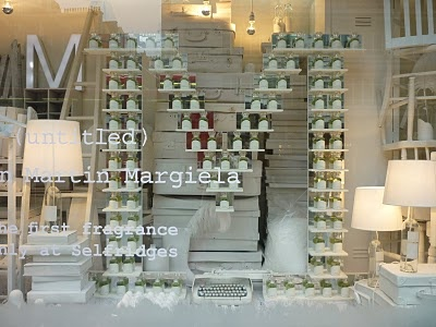 Visual Merchandising   Selfridges spell it out with Martin Margiela