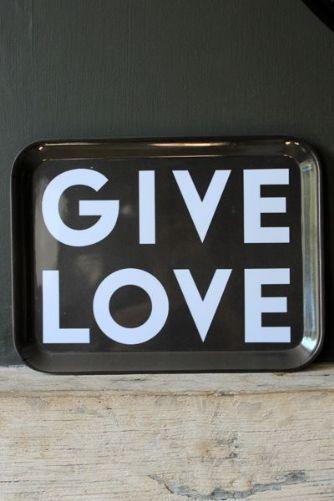 Give Love Melamine Tray