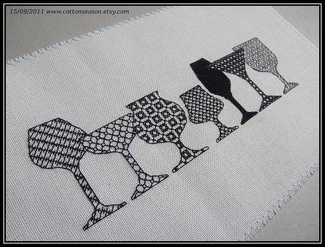 blackwork embroidery - Google Search