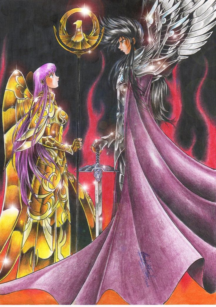 Saint Seiya - Athena vs Hades By Crike