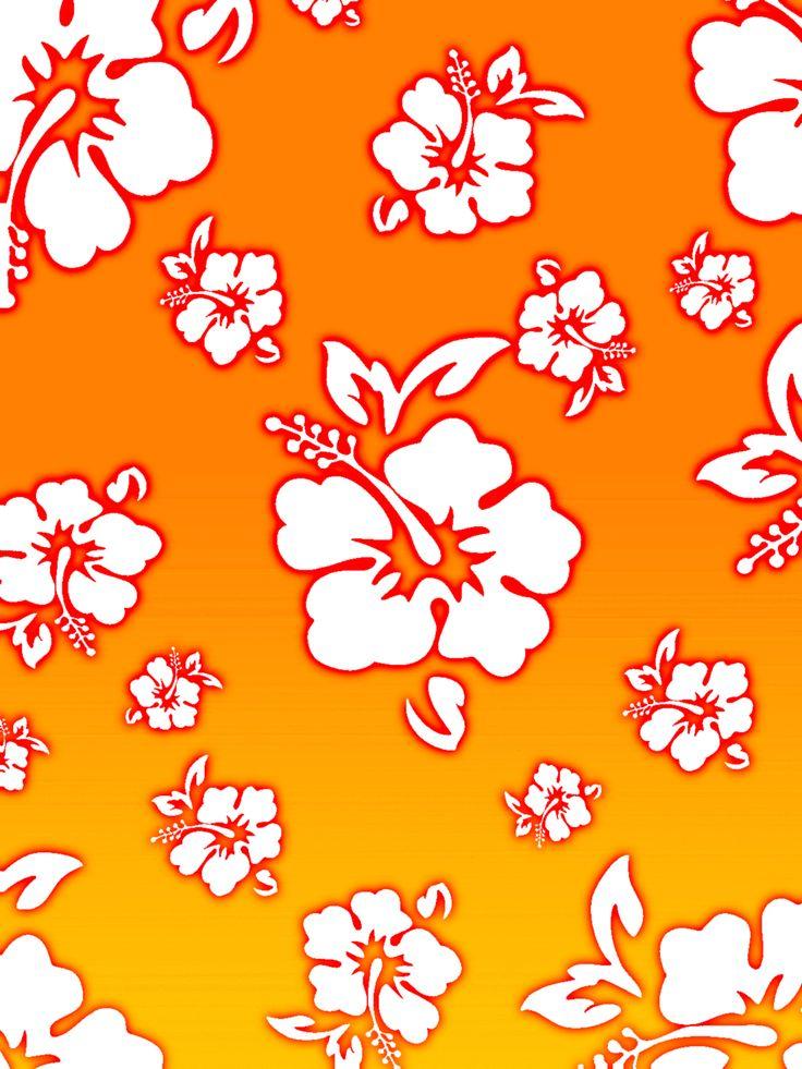 Hawaiian flower design background