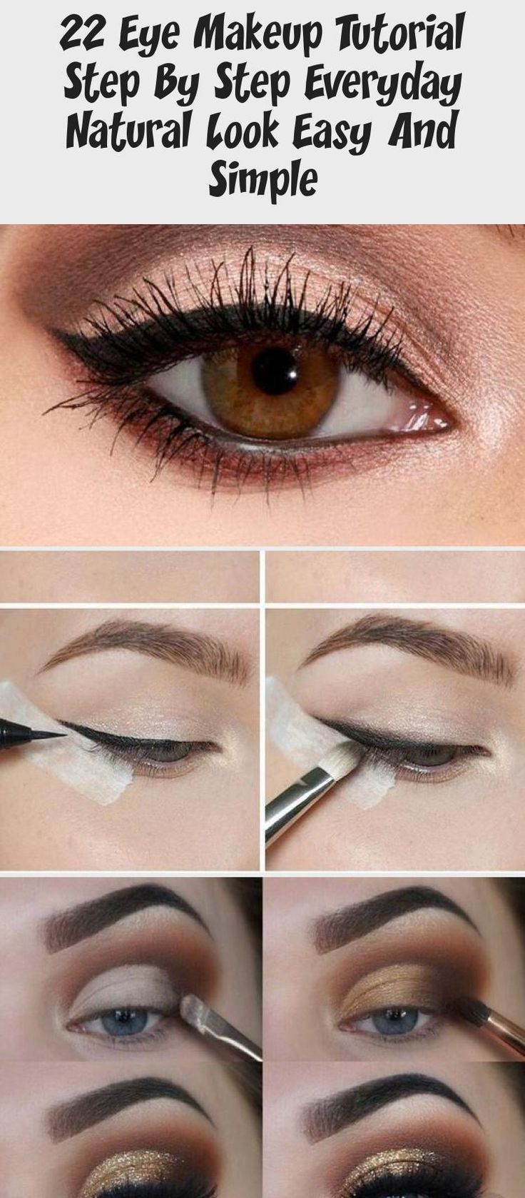 22 Eye Makeup Tutorial Step By Step Everyday Natural Look ...