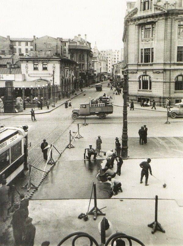 Strada Academiei, 1924 În dreapta Universitatea