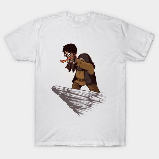 Rubeus Hagrid with Harry Potter T-Shirt - free shipping worldwide