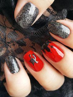 Halloween Vinyl Nagel Schablonen unglaubliche nail Art von Unail
