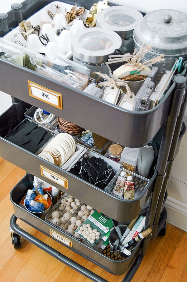 Little House of Four: Organizing Craft Supplies with IKEA's RASKOG Utility Cart