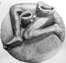 This Akkadian period artifact is inscribed, mentioning the construction of a temple in Akkad. Akkad was the capital of the Akkadian Empire and the location of the city is still unknown to this day.