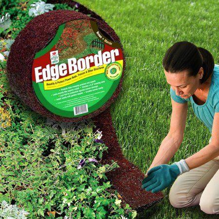 "Easy Gardener Perm-A-Mulch 4.5"" x 8' Red Garden Edging Border Recycled Rubber Lawn Landscape"