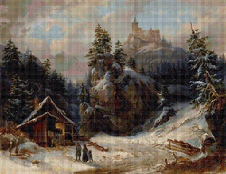 Горный пейзаж - Схемы вышивки - Сашакуз - Авторы - Портал «Вышивка крестом»