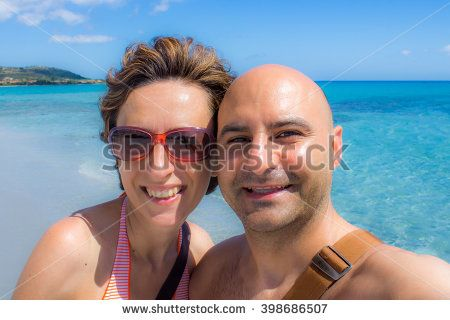 #happy #couple #selfportrait #beach #sea #clear #love #loving #summer #vacation #you&me