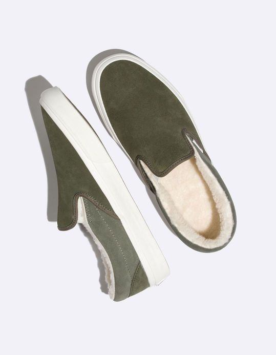 c7bcb780454dc7 VANS Suede   Sherpa Classic Slip-On Shoes