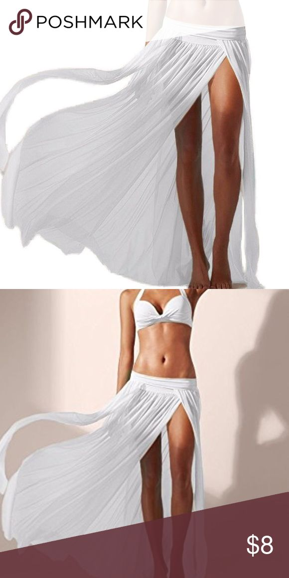 Mansy Women's Sexy Gauze Beach Maxi Skirt New in packaging Swim Coverups